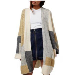 Topshop patchwork oversized cardigan